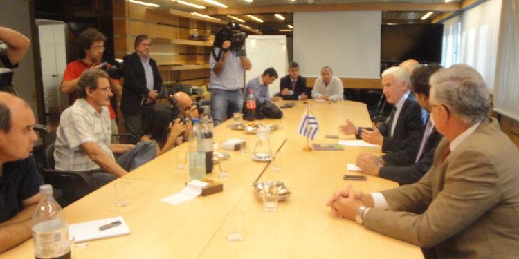 Presentación ante periodistas.