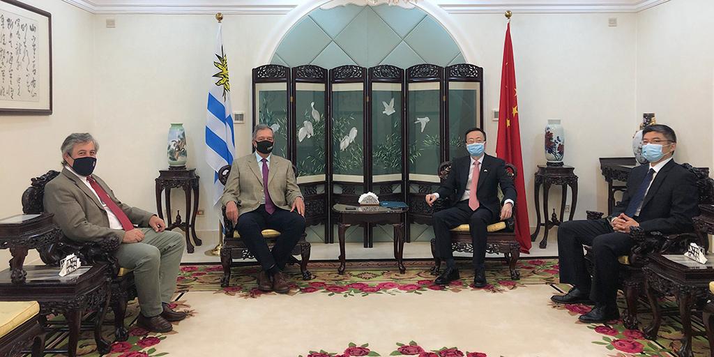 Reunión de autoridades de INAC con el embajador de la República Popular China